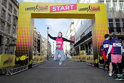 Competitors on the start line during the 2019 London Landmarks Half Marathon.