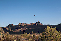 Saguaro National Park west with balloon