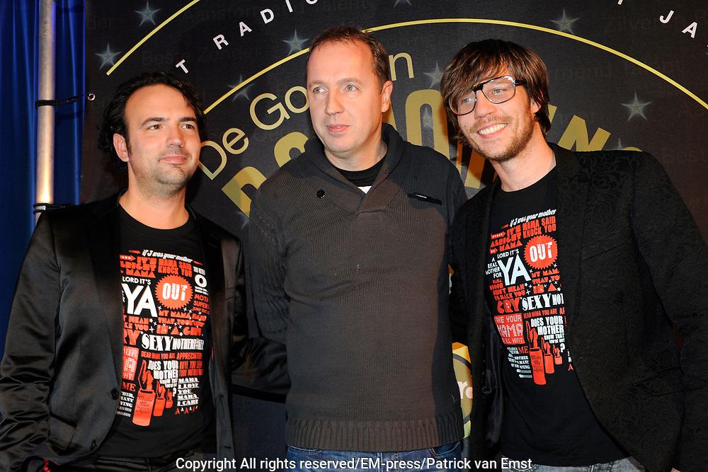AVRO Radiogala 2011 in het Stadhuis van Hilversum.<br /> <br /> Op de foto:  Edwin Evers , Giel Beelen en Gerard Ekdom