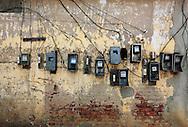 Power meters in Ciego de Avila, Cuba.
