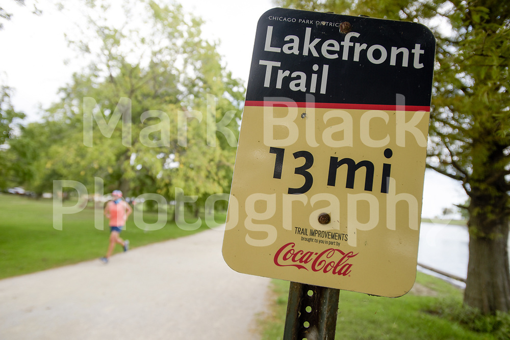 Lakefront trail in Lincoln Park in Chicago on Thursday, Sept. 3, 2020. Photo by Mark Black