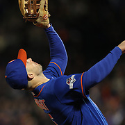 David Wright, New York MEts, makes a catch at thrid base during the MLB NLCS Playoffs game two, Chicago Cubs vs New York Mets at Citi Field, Queens, New York. USA. 18th October 2015. Photo Tim Clayton