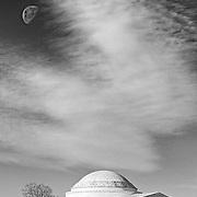 Moonrise over the Jefferson Memorial in Washington D.C.