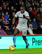 Michail Antonio (30) of West Ham United during the Premier League match between Bournemouth and West Ham United at the Vitality Stadium, Bournemouth, England on 19 January 2019.