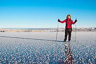 ÖSTERSUND 20210106<br /> Skridskotur vid Andersön en solig och kall onsdag i januari.<br /> <br /> Foto: Per Danielsson/Projekt.P