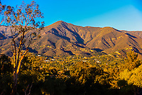 View of the Santa Ynez Mountains, Montecito (Santa Barbara), California USA.