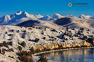 The Flathead River after a fresh snowfall in the Mission Valley, Montana, USA