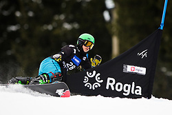 Melanie Hochreiter (GER) competes during Qualification Run of Women's Parallel Giant Slalom at FIS Snowboard World Cup Rogla 2016, on January 23, 2016 in Course Jasa, Rogla, Slovenia. Photo by Ziga Zupan / Sportida