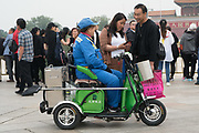Electric powered service vehicle<br /><br />Electric vehicles are everywhere on China's roads, from battery powered pedal bikes to hybrid cars, electric buses and all types of service vehicles.