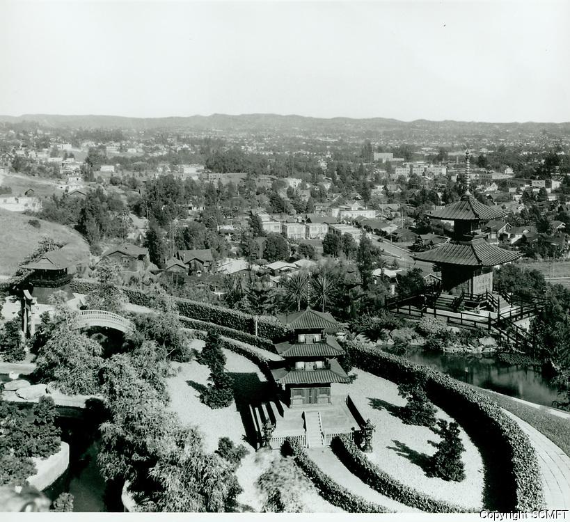 1918 Gardens at the Bernheimer Estate. Now the Yamashiro
