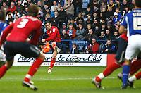 Photo: Steve Bond/Richard Lane Photography. Leicester City v West Bromwich Albion. Coca Cola Championship. 07/11/2009. Graham Dorrans (C) scores the opener through a crowd of players