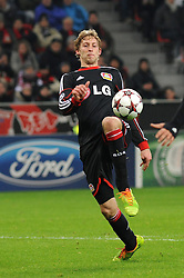 27.11.2013, BayArena, Leverkusen, GER, UEFA CL, Bayer Leverkusen vs Manchester United, Gruppe A, im Bild Stefan Kiessling ( Bayer 04 Leverkusen / Freisteller ) // during UEFA Champions League group A match between Bayer Leverkusen vs Manchester United at the BayArena in Leverkusen, Germany on 2013/11/28. EXPA Pictures © 2013, PhotoCredit: EXPA/ Eibner-Pressefoto/ Thienel<br /> <br /> *****ATTENTION - OUT of GER*****