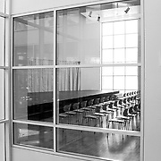 Ulm, Germany, Baden-Württemberg, 2020: Interior view -First floor conference rom - Ulm Exhibition and Assembly Building at Münsterplatz. - Richard Meier Architect - Photographs by Alejandro Sala