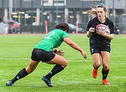 Wales women's Kerin Lake in action during todays match<br /> <br /> Photographer Craig Thomas/Replay Images<br /> <br /> International Friendly - Wales women v Ireland women - Sunday 21th January 2018 - CCB Centre for Sporting Excellence - Ystrad Mynach<br /> <br /> World Copyright © Replay Images . All rights reserved. info@replayimages.co.uk - http://replayimages.co.uk