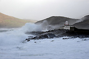 Storm Fionn arrives with a vengence on Valentia Island in County Kerry on Tuesday dumping storm force winds, rain and sleet on The Kingdom.<br /> Picture by Don MacMonagle