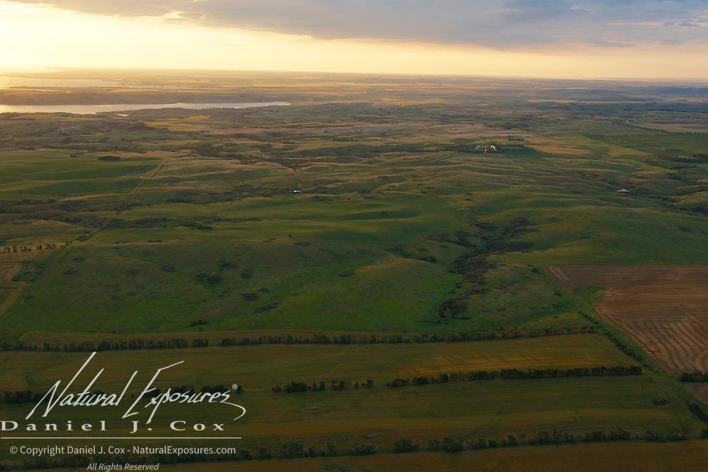 Agricultural lands near the Little Missouri river breaks in North Dakota.