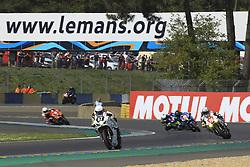 April 21, 2018 - Le Mans, SARTHE (72, FRANCE - 87 TEAM R2CL  MKS  PARTELYA (LUX) SUZUKI GSXR 1000 FORMULA EWC LOISEAU ANTHONY  (FRA) SELLER CLINTON (RSA) DUNLOP MICHAEL (IRL) GIABBANI GWEN  (Credit Image: © Panoramic via ZUMA Press)