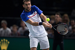 Marin Cilic of Croatia during the men's single first round match against Roberto Bautista-Agut of Spain during day four of the Rolex Paris Masters at the Accor Hotels Arena on November 2, 2017 in Paris, France. Photo by Yann Bohac/ANDBZ/ABACAPRESS.COM
