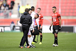 October 28, 2018 - Rennes, France - 08 MARVIN MARTIN (REI) - BLESSURE - DECEPTION (Credit Image: © Panoramic via ZUMA Press)