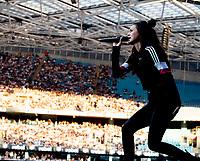 Amy Shark at Fire Fight Australia at the  ANZ Stadium Sydney Australa 16 Feb 2020 Photo BY Rhiannon Hopley