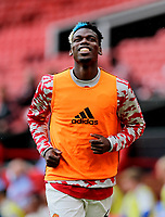 Football - 2021 / 2022 Pre-Season Friendly - Manchester United vs Everton - Old Trafford - Saturday 7th August 2021<br /> <br /> Paul Pogba of Manchester United warms up, at Old Trafford.<br /> <br /> COLORSPORT/ALAN MARTIN