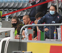 Rugby Union - 2020 / 2021 Gallagher Premiership - Round 18 - Harlequins vs Wasps - The Stoop<br /> <br /> Mike Brown of Harlequins sits in the stand after getting the red card <br /> <br /> Credit : COLORSPORT/ANDRTEW COWIE