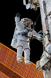 EARTH Aboard the International Space Station -- 21 Dec 2015 -- NASA astronaut Scott Kelly is seen floating during a spacewalk on 21 Dec 2015. NASA astronauts Scott Kelly and Tim Kopra released brake handles on crew equipment carts on either side of the space station's mobile transporter rail car so it could be latched in place ahead of Wednesday's docking of a Russian cargo resupply spacecraft. Kelly and Kopra also tackled several get-ahead tasks during their three hour, 16 minute spacewalk. EXPA Pictures © 2016, PhotoCredit: EXPA/ Photoshot/ Tim Kopra/Atlas Photo Archive/NA<br /><br />*****ATTENTION - for AUT, SLO, CRO, SRB, BIH, MAZ, SUI only*****