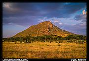 Samburu Mountain At Sunset<br /> Samburu Reserve, Kenya<br /> September 2012