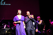 NORTHRIDGE, CA - DECEMBER 01: Eden Espinosa and Joe Bwarie perform at The Wonderful Wizard Of Song at The Soraya on December 1, 2018 in Northridge, California. (Photo by Amy Graves/Getty Images for Wonderful Wizard LLC) *** Local Caption *** Eden Espinosa;Joe Bwarie