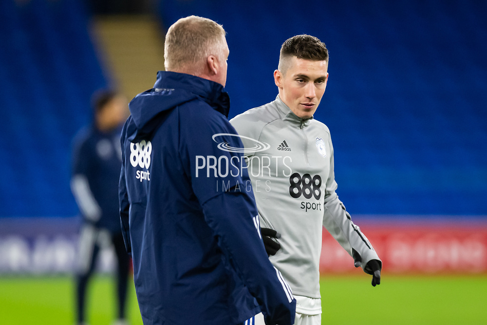 Cardiff City's Harry Wilson (23) during the pre-match warm-up at the EFL Sky Bet Championship match between Cardiff City and Birmingham City at the Cardiff City Stadium, Cardiff, Wales on 16 December 2020.