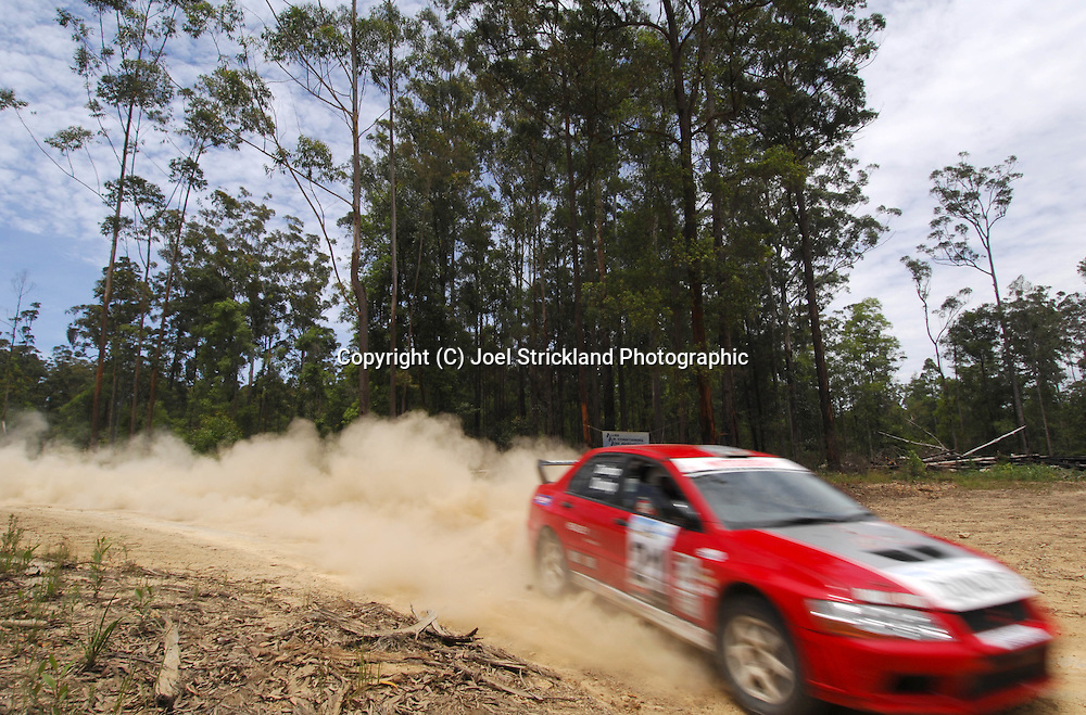 Dennis & Jacque Dunlop.Motorsport-Rally/2008 Coffs Coast Rally.Heat 1.Coffs Harbour, NSW.15th of November 2008.(C) Joel Strickland Photographics