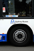 Detail of Sydney bus. Sydney, Australia