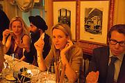 GILLIAN ANDERSON; WARIS; GEORGIA BYNG; SCOTT LYON WALL, Charles Finch and  Jay Jopling host dinner in celebration of Frieze Art Fair at the Birley Group's Harry's Bar. London. 10 October 2012.