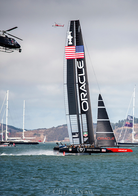 Team USA/Oracle racing (and foiling) in the 34th America's Cup (2013), San Francisco Bay