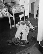 Y-541125-01.  Murder at the Mysterious Billy Smith Tavern, 1500 North Wheeler, November 25th, 1954.