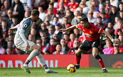 Manchester United's Alexis Sanchez (right) in action