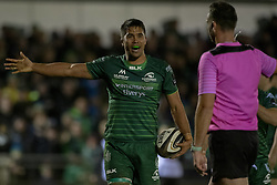 November 3, 2018 - Galway, Ireland - Jarrad Butler of Connacht reacts during the Guinness PRO14 match between Connacht Rugby and Dragons at the Sportsground in Galway, Ireland on November 3, 2018  (Credit Image: © Andrew Surma/NurPhoto via ZUMA Press)