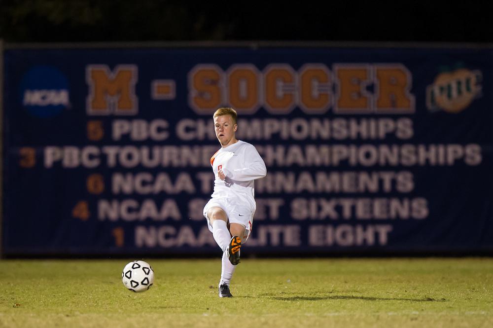 Oct 23, 2013; Morrow, GA, USA; Clayton State men's soccer player Nomis Cisic against Georgia Southwestern at CSU. CSU won 3-2. Photo by Kevin Liles/kevindliles.com
