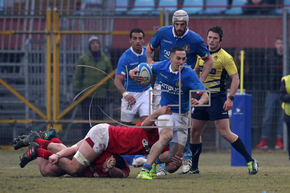 Mantova 10/02/2019 Stadio Danilo Martelli<br /> 6 nazioni under 20 2019<br /> Italia vs Galles