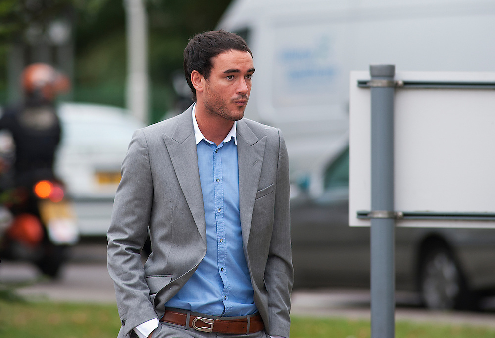 Jack Tweed arriving at  Redbridge Magistrates court  after pleading guilty to assault in Essex on August 03rd 2011..Jade Goody's widower, 23, appears charged with threatening and abusive behaviour, in relation to an alleged incident outside Deuces Bar and Lounge, in Chigwell, Essex, on January 3. Appearing alongside are Tweed's younger brother Lewis, 20..Photographs by Ki Price..