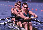 1996 Olympics Games - Atlanta – Georgia – USA, Australian Oarsome Foursome., AUS M4-  Stroke Mike McKay – 3 Nick Green -  2 James Tomkins  -  Bow  Drew Ginn