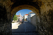 View through the arch of the Donja Vrata, the Lower Gate. Nin, Croatia