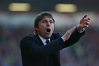 Football - 2016 / 2017 Premier League - AFC Bournemouth vs. Chelsea<br /> <br /> Chelsea Manager Antonio Conte claims hand ball after Bournemouth pull a goal back just before half time at the Vitality Stadium (Dean Court) Bournemouth<br /> <br /> COLORSPORT/SHAUN BOGGUST