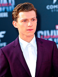 """Tom Holland 04/12/2016 World Premiere of Marvel's """"Captain America: Civil War"""" held at Dolby Theater in Hollywood, CA. EXPA Pictures © 2016, PhotoCredit: EXPA/ Photoshot/ Albert L. Ortega<br /> <br /> *****ATTENTION - for AUT, SLO, CRO, SRB, BIH, MAZ, SUI only*****"""
