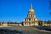 France, Paris (75), cathédrale Saint-Louis-des-Invalides durant le confinement du Covid 19 // France, Paris, cathédrale Saint-Louis-des-Invalides during the containment of Covid 19
