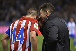 March 2, 2017 - La Coruna, Spain - Simeone talks to Gabi. La Liga Santander Matchday 25. Riazor Stadium, La Coruna, Spain. March 02, 2017. (Credit Image: © Monica Arcay Carro/VW Pics via ZUMA Wire/ZUMAPRESS.com)