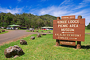 Koke'e Lodge and Museum, Koke'e State Park, Island of Kauai, Hawaii