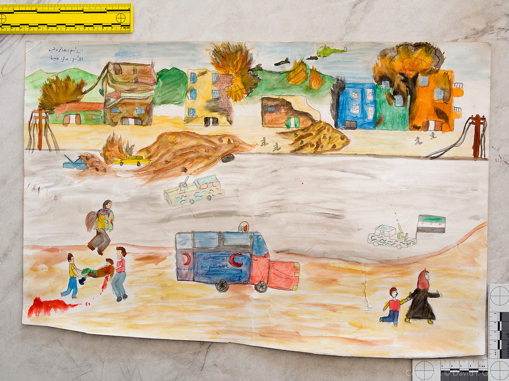 Child's drawing from the Torches of Freedom school for Syrian refugee children.