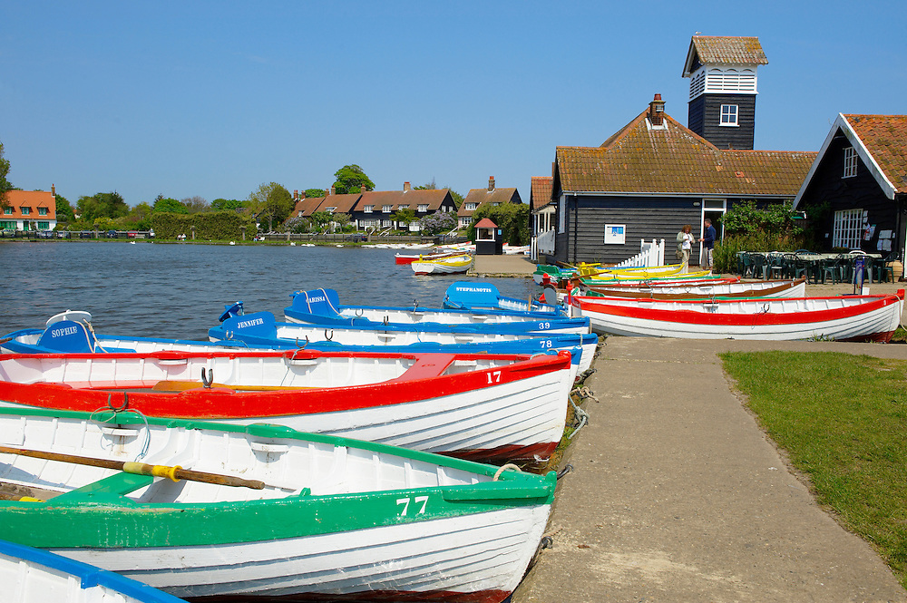 Boating lake with rowing boats at Thorpness Village  - Near Aldeburgh - Suffolk .<br /> <br /> Visit our ENGLAND PHOTO COLLECTIONS for more photos to download or buy as wall art prints https://funkystock.photoshelter.com/gallery-collection/Pictures-Images-of-England-Photos-of-English-Historic-Landmark-Sites/C0000SnAAiGINuEQ .<br /> <br /> Visit our ENGLAND PHOTO COLLECTIONS for more photos to download or buy as wall art prints https://funkystock.photoshelter.com/gallery-collection/Pictures-Images-of-England-Photos-of-English-Historic-Landmark-Sites/C0000SnAAiGINuEQ