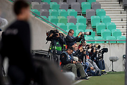 Photographers during football match between National Teams of Slovenia and Cyprus in Final Tournament of UEFA Nations League 2019, on October 16, 2018 in SRC Stozice, Ljubljana, Slovenia. Photo by Urban Urbanc / Sportida